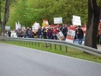 Demo zur Umweltministerkonferenz in Bad Saarow