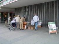 Infostand in Schwedt